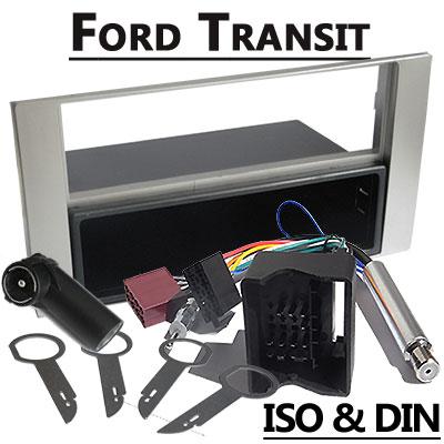 Ford Transit Radioeinbauset 1 DIN mit Fach Silber Ford Transit Radioeinbauset 1 DIN mit Fach Silber Ford Transit Radioeinbauset 1 DIN mit Fach Silber