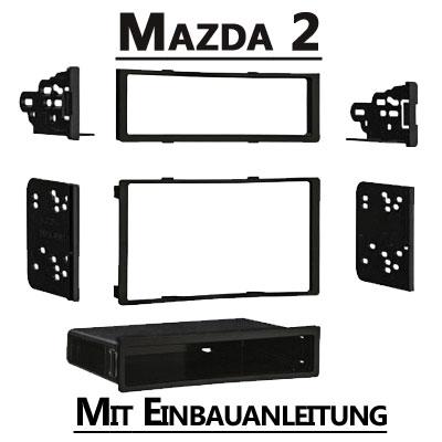 Mazda-2-Typ-DE-1-DIN-oder-Doppel-DIN-Radioblende