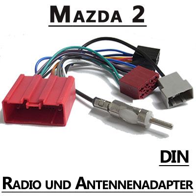 Mazda-2-Typ-DE-Autoradio-Antennenadapter-DIN-Fahrzeugspezifisch