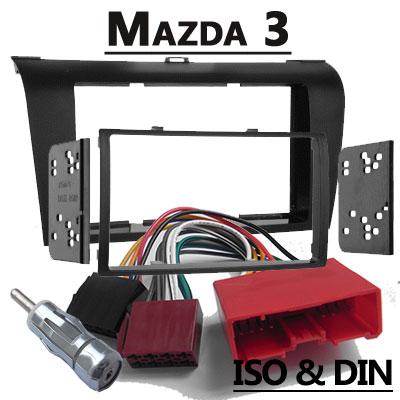 mazda 3 radioeinbauset 2 din mit antennenadapter Mazda 3 Radioeinbauset 2 DIN mit Antennenadapter Mazda 3 Radioeinbauset 2 DIN mit Antennenadapter