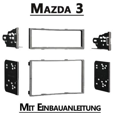 Mazda-3-Typ-BL-1-DIN-oder-Doppel-DIN-Radioblende