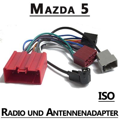 Mazda-5-Radio-und-Antennenadapter-ISO-Fahrzeugspezifisch