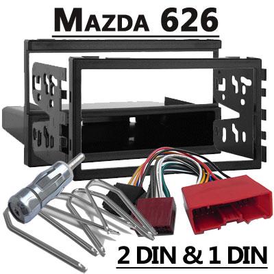 Mazda 626 Autoradio Einbauset Doppel DIN oder 1 DIN Mazda 626 Autoradio Einbauset Doppel DIN oder 1 DIN Mazda 626 Autoradio Einbauset Doppel DIN oder 1 DIN