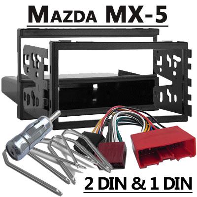 Mazda MX-5 Autoradio Einbauset Doppel DIN oder 1 DIN Mazda MX-5 Autoradio Einbauset Doppel DIN oder 1 DIN Mazda MX 5 Autoradio Einbauset Doppel DIN oder 1 DIN