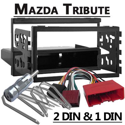 Mazda-Tribute-Autoradio-Einbauset-Doppel-DIN-oder-1-DIN