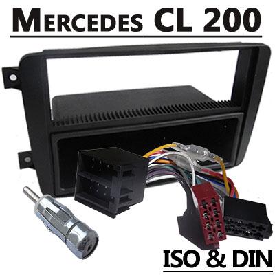 Mercedes-Benz-CL-200-Autoradio-Einbauset-1-DIN-mit-Fach