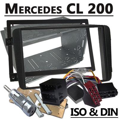 Mercedes-Benz-CL-200-Autoradio-Einbauset-Doppel-DIN