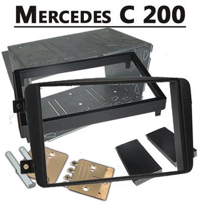 Mercedes-C-200-Doppel-DIN-Radio-Einbaurahmen