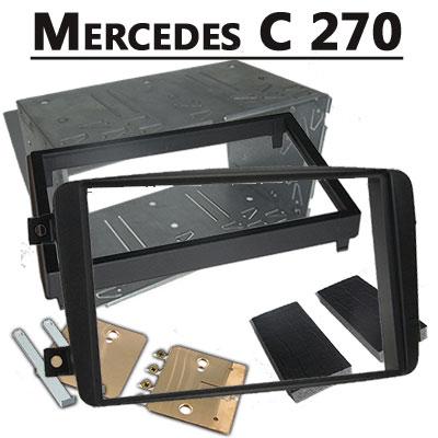 Mercedes-C-270-Doppel-DIN-Radio-Einbaurahmen