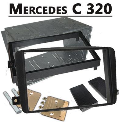Mercedes-C-320-Doppel-DIN-Radio-Einbaurahmen