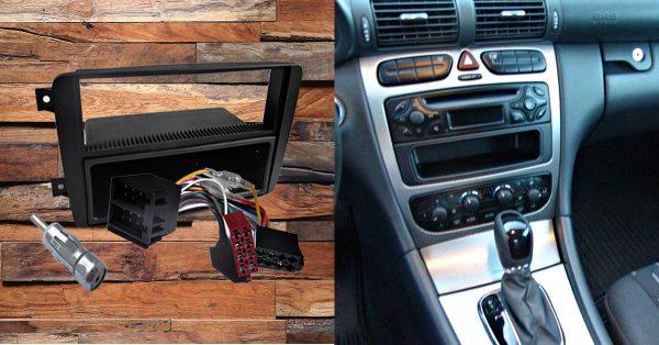 mercedes-benz c 200 autoradio einbauset 1 din mit fach Mercedes-Benz C 200 Autoradio Einbauset 1 DIN mit Fach Mercedes200 600x314