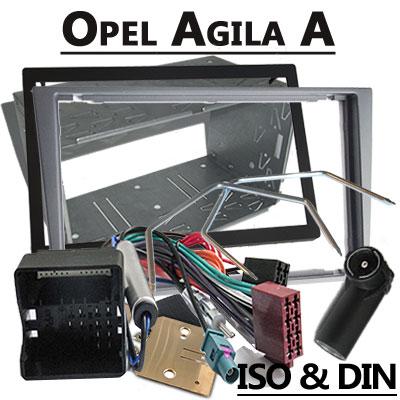 Opel Agila A 2 DIN Radio Einbauset hellsilber ab 2005 Opel Agila A 2 DIN Radio Einbauset hellsilber ab 2005 Opel Agila A 2 DIN Radio Einbauset hellsilber ab 2005