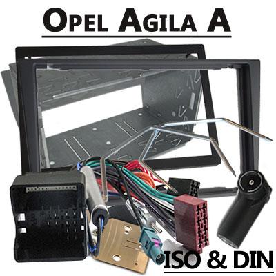 Opel Agila A Radioeinbauset Doppel DIN dunkelsilber ab 2005 Opel Agila A Radioeinbauset Doppel DIN dunkelsilber ab 2005 Opel Agila A Radioeinbauset Doppel DIN dunkelsilber ab 2005