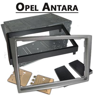 Opel-Antara-Doppel-DIN-Radio-Einbaurahmen-dunkelsilber