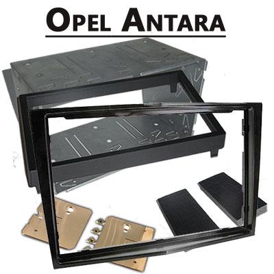 Opel-Antara-Doppel-DIN-Radio-Einbaurahmen-schwarz