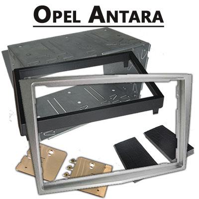 Opel-Antara-Radioeinbauset-Doppel-DIN-hellsilber