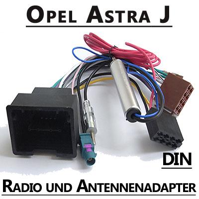 Opel-Astra-J-Autoradio-Anschlusskabel-DIN-Antennenadapter