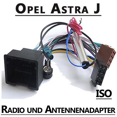 Opel-Astra-J-Radio-Adapterkabel-ISO-Antennenadapter