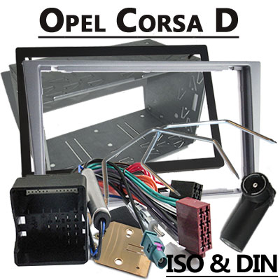 Opel-Corsa-D-2-DIN-Radio-Einbauset-hellsilber