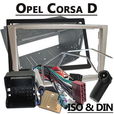 Opel-Corsa-D-Autoradio-Einbauset-2-DIN-Champagne