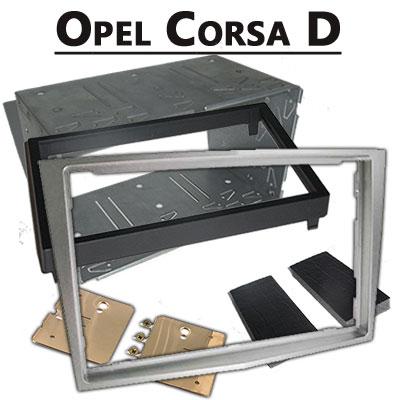 Opel-Corsa-D-Radioeinbauset-Doppel-DIN-hellsilber