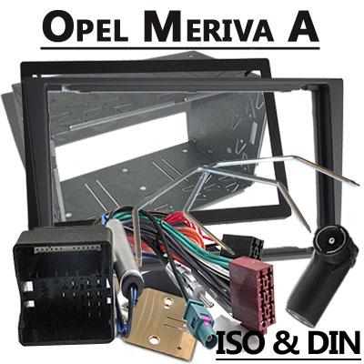 Opel-Meriva-Radioeinbauset-Doppel-DIN-dunkelsilber-ab-2004