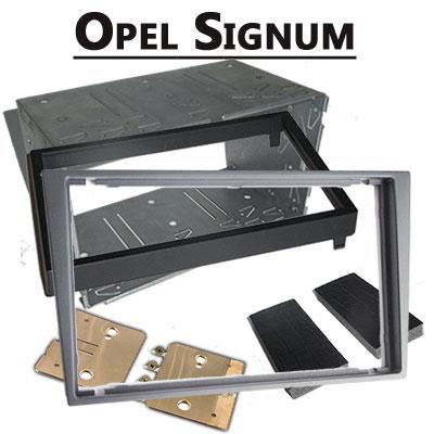 Opel-Signum-Radioeinbauset-Doppel-DIN-hellsilber