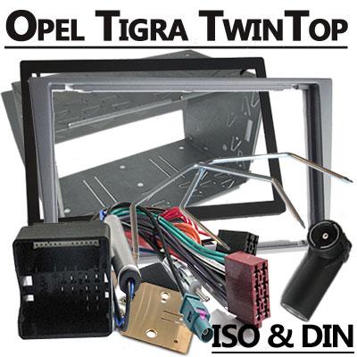 Opel-Tigra-TwinTop-2-DIN-Radio-Einbauset-hellsilber