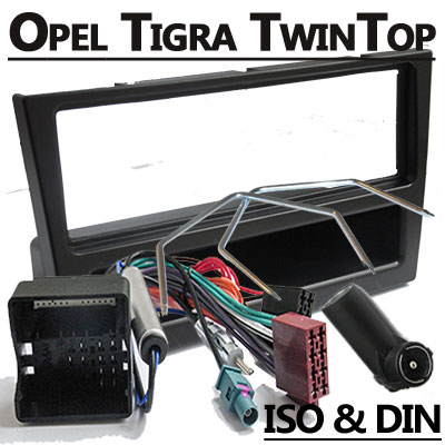 Opel-Tigra-TwinTop-Autoradio-Einbauset-1-DIN-schwarz