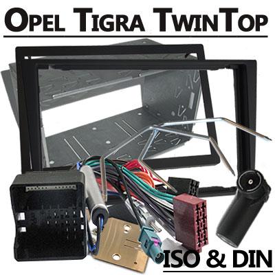 Opel-Tigra-TwinTop-Autoradio-Einbauset-Doppel-DIN-schwarz