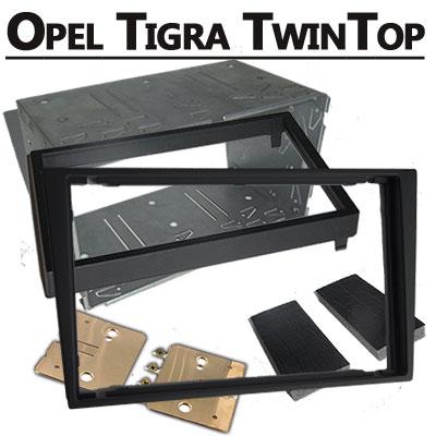 Opel-Tigra-TwinTop-Doppel-DIN-Radio-Einbaurahmen-schwarz