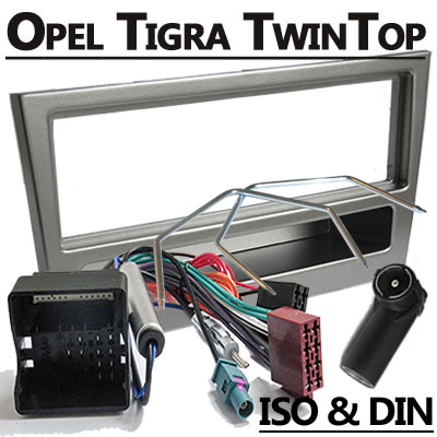 Opel-Tigra-TwinTop-Radioeinbauset-1-DIN-dunkelsilber