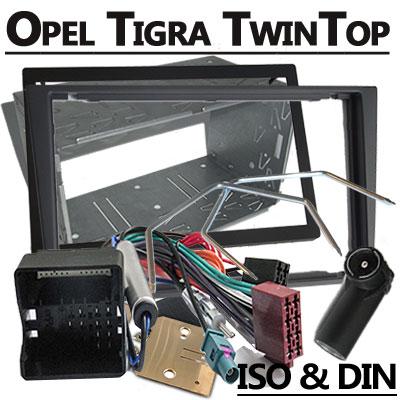 Opel-Tigra-TwinTop-Radioeinbauset-Doppel-DIN-dunkelsilber