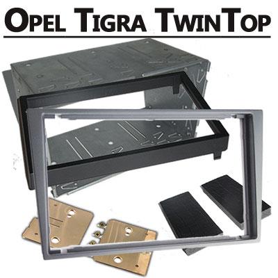 Opel-Tigra-TwinTop-Radioeinbauset-Doppel-DIN-hellsilber