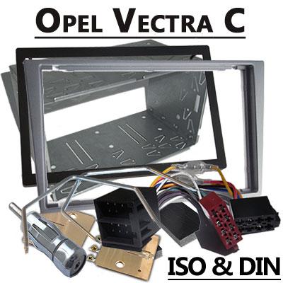 Opel Signum 2 DIN Radio Einbauset hellsilber bis 2005 Opel Signum 2 DIN Radio Einbauset hellsilber bis 2005 Opel Vectra C 2 DIN Radio Einbauset hellsilber bis 2004 1