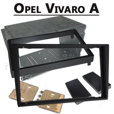 Opel-Vivaro-A-Doppel-DIN-Radio-Einbaurahmen-schwarz