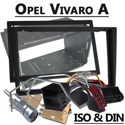 Opel Vivaro Autoradio Einbauset Doppel DIN schwarz bis 2006 Opel Vivaro Autoradio Einbauset Doppel DIN schwarz bis 2006 Opel Vivaro Autoradio Einbauset Doppel DIN schwarz bis 2006