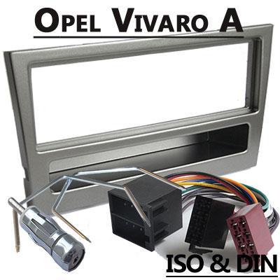 Opel Vivaro Radioeinbauset 1 DIN dunkelsilber bis 2006 Opel Vivaro Radioeinbauset 1 DIN dunkelsilber bis 2006 Opel Vivaro Radioeinbauset 1 DIN dunkelsilber bis 2006