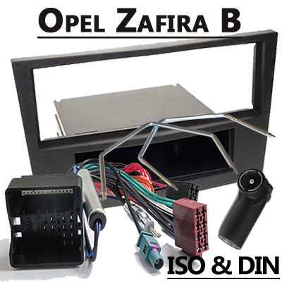 Opel-Zafira-Autoradio-Einbauset-1-DIN-schwarz