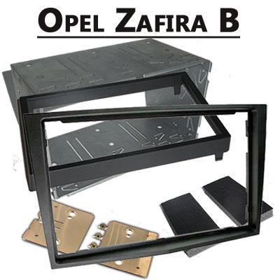 Opel-Zafira-B-Radioeinbauset-Doppel-DIN-dunkelsilber