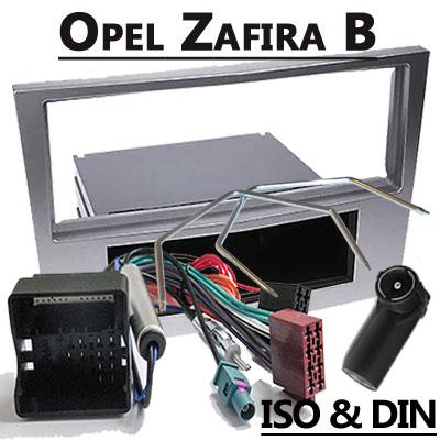 Opel-Zafira-Radioeinbauset-1-DIN-dunkelsilber