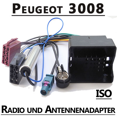Peugeot-3008-Radio-Adapterkabel-ISO-Antennenadapter