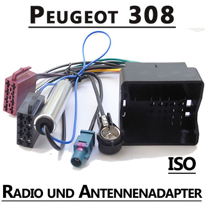 Peugeot-308-Radio-Adapterkabel-ISO-Antennenadapter