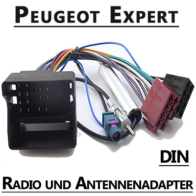peugeot expert autoradio anschlusskabel din antennenadapter. Black Bedroom Furniture Sets. Home Design Ideas