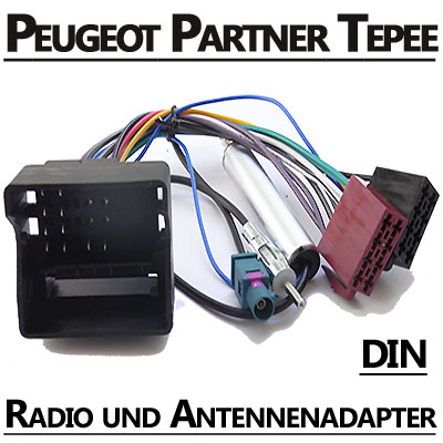 Peugeot Partner Tepee Autoradio Anschlusskabel DIN Antennenadapter Peugeot Partner Tepee Autoradio Anschlusskabel DIN Antennenadapter Peugeot Partner Tepee Autoradio Anschlusskabel DIN Antennenadapter