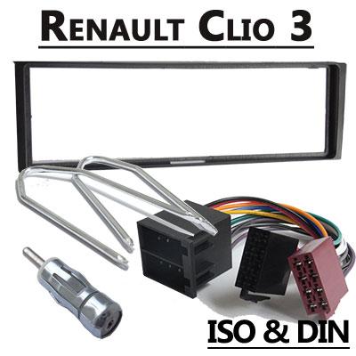 Renault Clio 3 Autoradio Einbauset 1 DIN Renault Clio 3 Autoradio Einbauset 1 DIN Renault Clio 3 Autoradio Einbauset 1 DIN