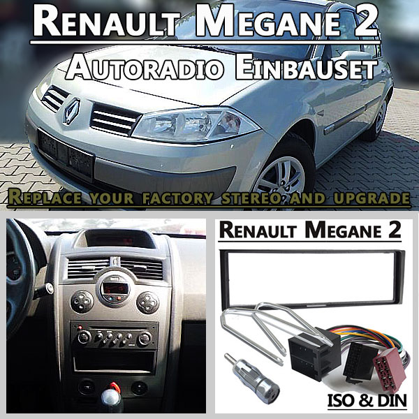 renault megane 2 autoradio einbauset 1 din. Black Bedroom Furniture Sets. Home Design Ideas