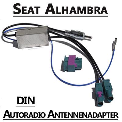 Seat Alhambra Antennenadapter mit Antennendiversity DIN Seat Alhambra Antennenadapter mit Antennendiversity DIN Seat Alhambra Antennenadapter mit Antennendiversity DIN