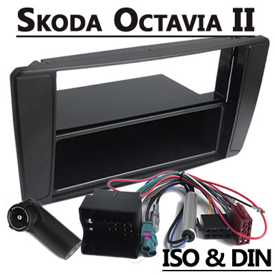 skoda octavia autoradio einbauset 1 din mit fach. Black Bedroom Furniture Sets. Home Design Ideas