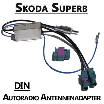 Skoda-Superb-Antennenadapter-mit-Antennendiversity-DIN